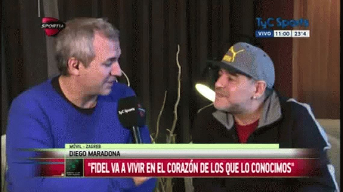 Maradona: Le pido a Dios que Macri llegue como presidente a cortar el pan dulce