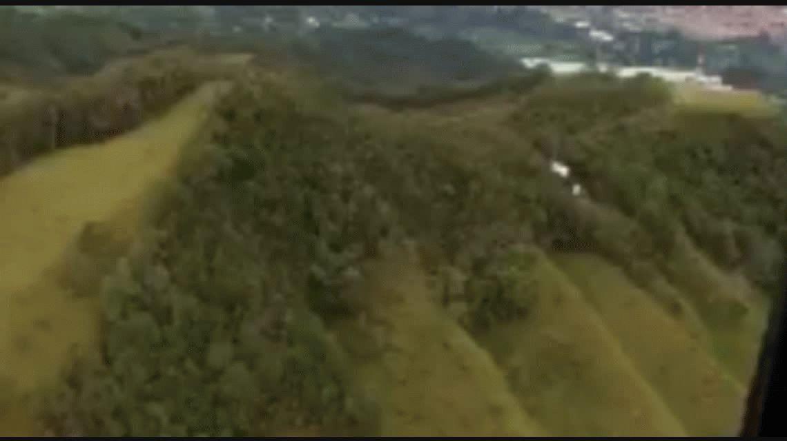 Así quedó el avión tras el accidente