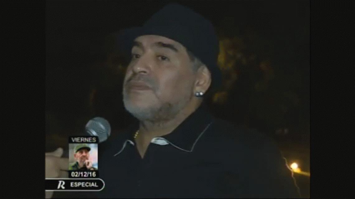 Maradona despide a Fidel Castro en Cuba: En nuestro corazón sigue latiendo