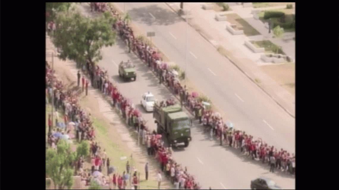 La caravana llegó a Santiago de Cuba