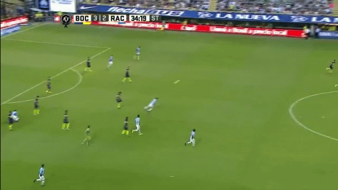 En un partido lleno de goles, Boca venció a Racing y es el único escolta
