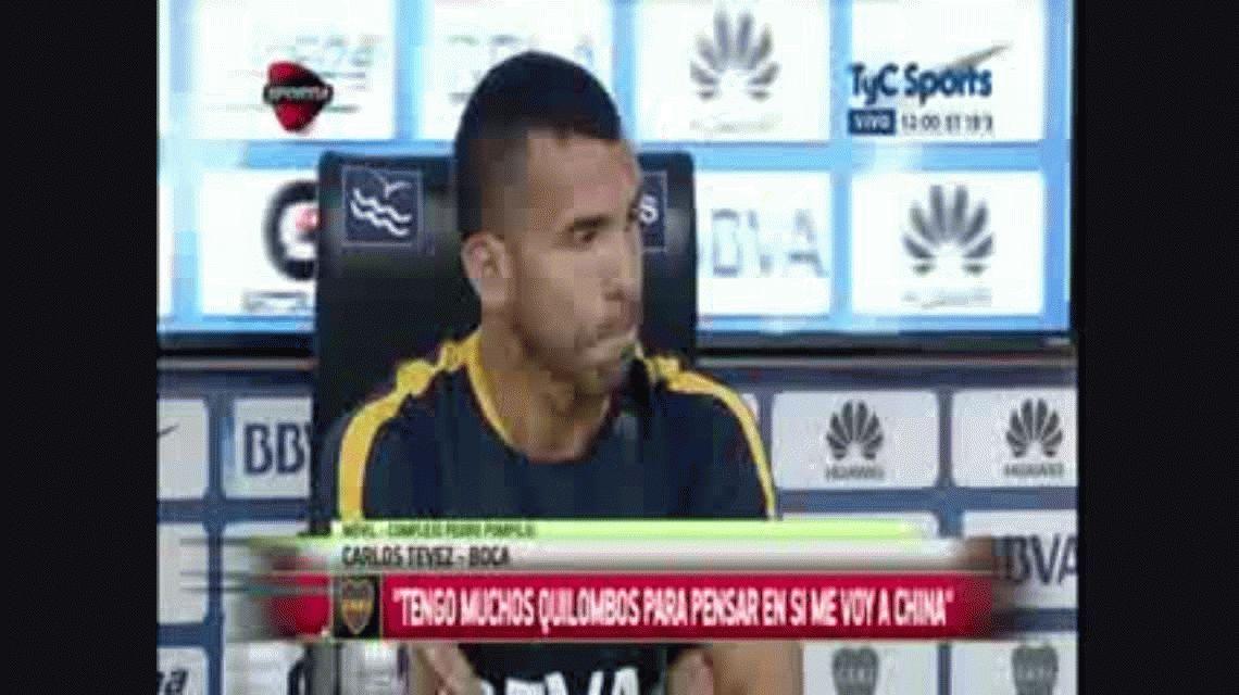 Tevez confirmó la oferta de China: Puedo irme o dejar de jugar al fútbol