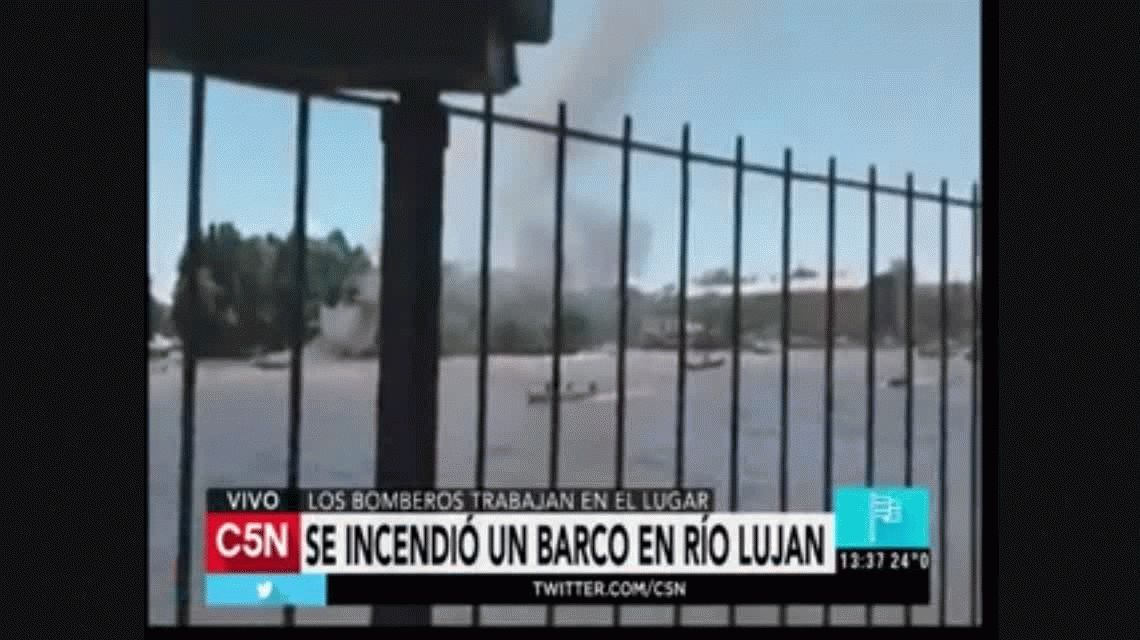 Se incendiaron cuatro embarcaciones en San Fernando por una explosión