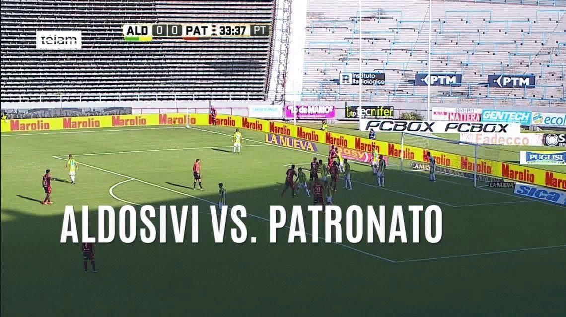 Patronato no lo pudo liquidar y Aldosivi lo empató sobre el final del partido