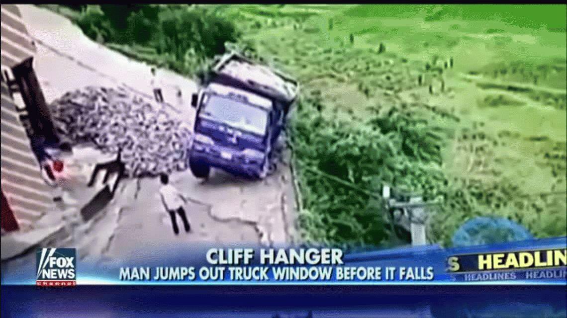 VIDEO: Se salvó de morir aplicando un truco de Rápido y Furioso