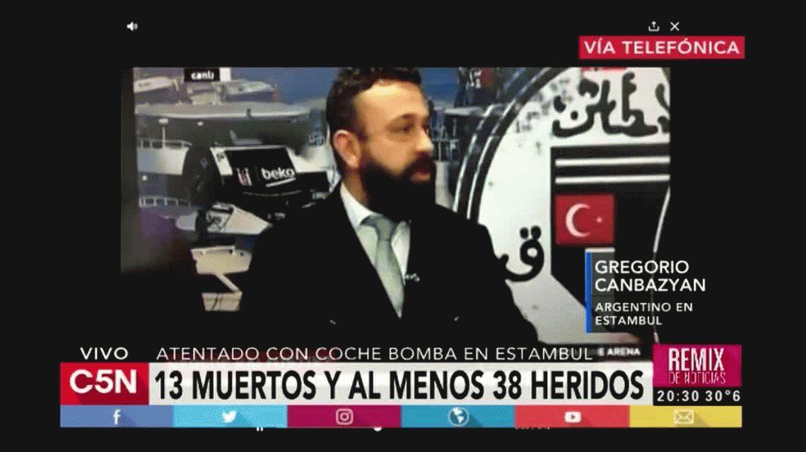 Atentado en Estambul: periodistas huyen en plena transmisión en vivo