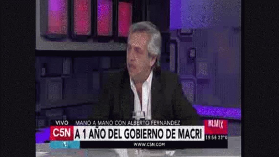 Alberto Fernández criticó el primer año de gobierno de Macri