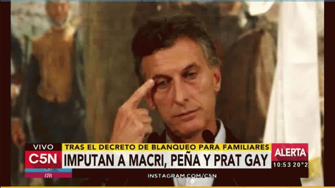 Imputaron a Macri, Peña y Prat Gay por el blanqueo a familiares