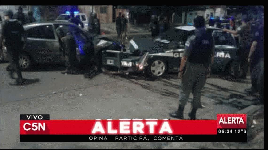 Persecución, tiroteo y choque en el Bajo Flores: seis gendarmes heridos