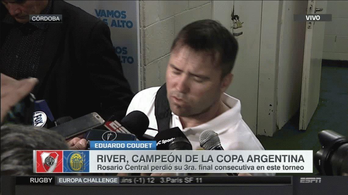 Tras caer ante River, el Chacho Coudet dejó de ser director técnico de Rosario Central
