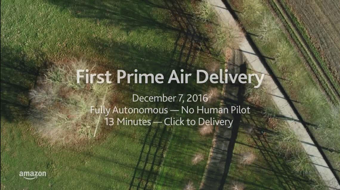 Amazon realizó la primera entrega con un drone