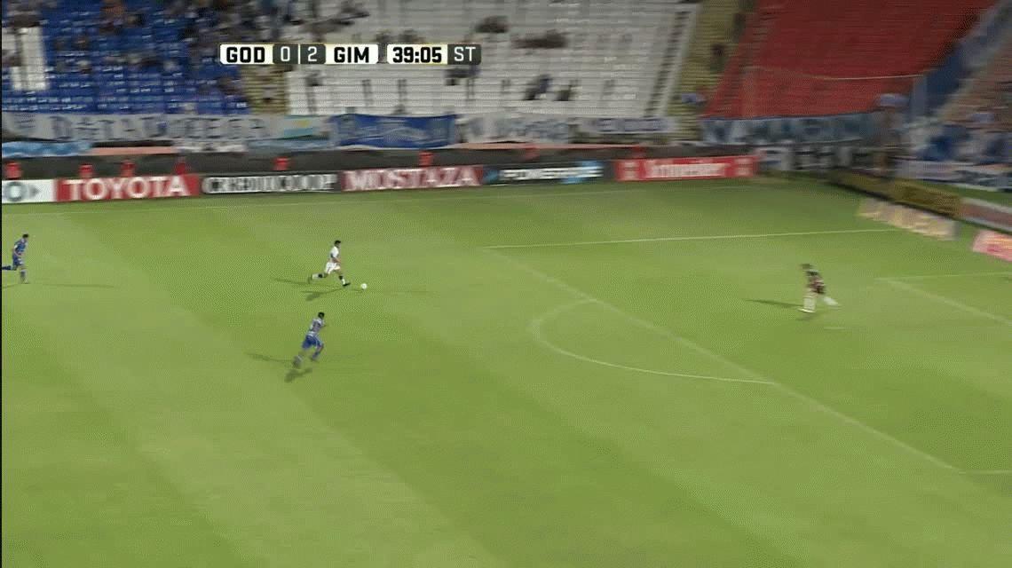 Gimnasia goleó a Godoy Cruz en Mendoza