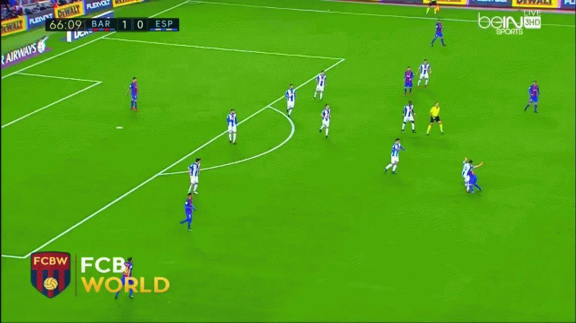 Messi hizo una jugada de antología antes del segundo gol del Barcelona