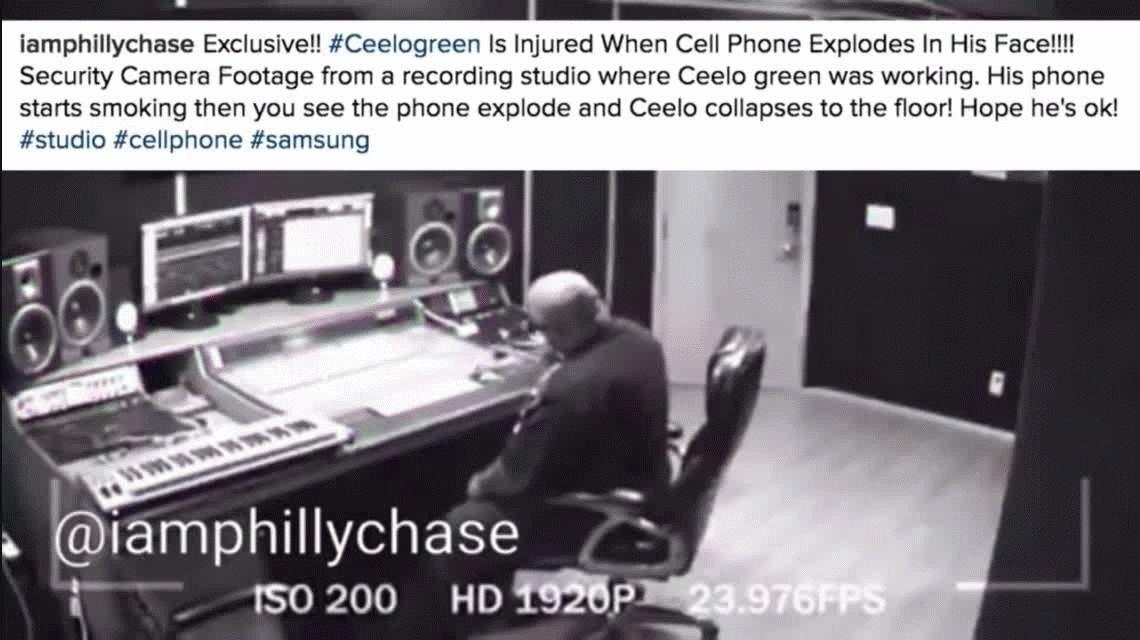 Impactante: así le explotó el celular al rapero CeeLo Green mientras hablaba
