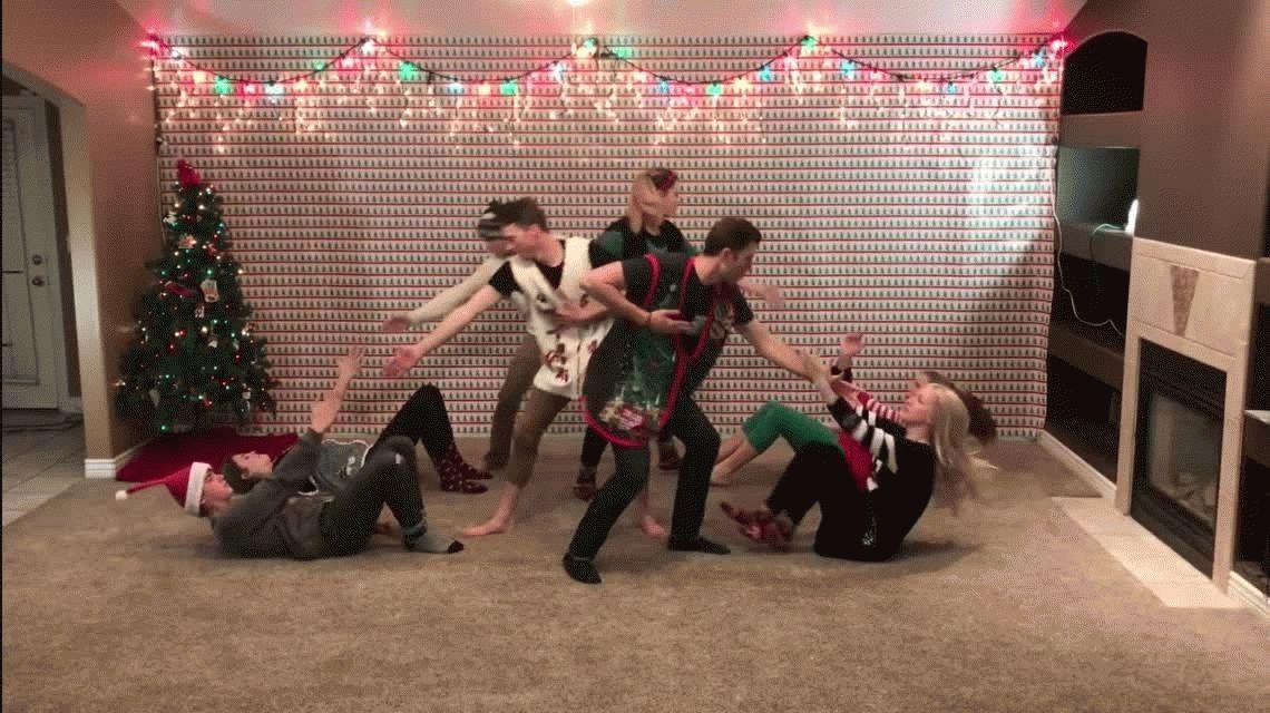 El baile del año: la original coreografía navideña de 8 hermanos que es furor