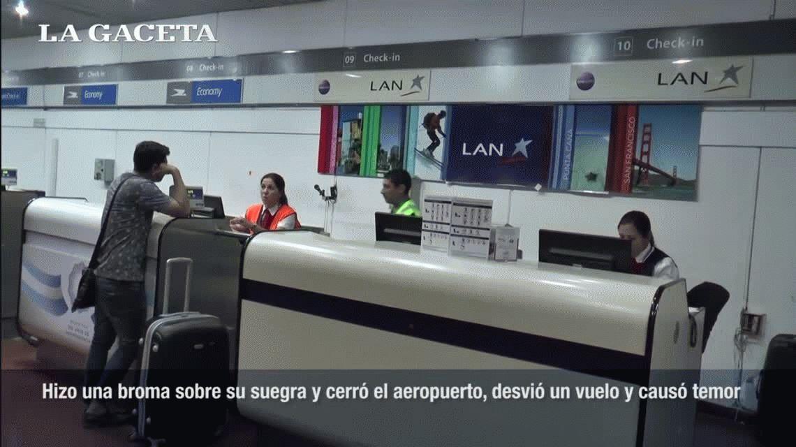 La pesada broma que hizo cerrar el aeropuerto de Tucumán y desviar un vuelo