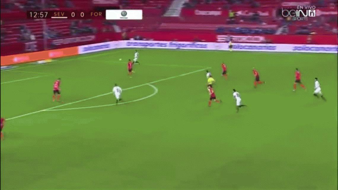 Con tres de Vietto, Sevilla le hizo 9 goles al Formentera por Copa del Rey