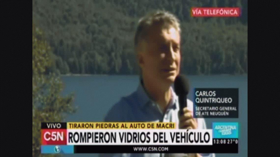 ATE negó haber agredido a piedrazos a Macri