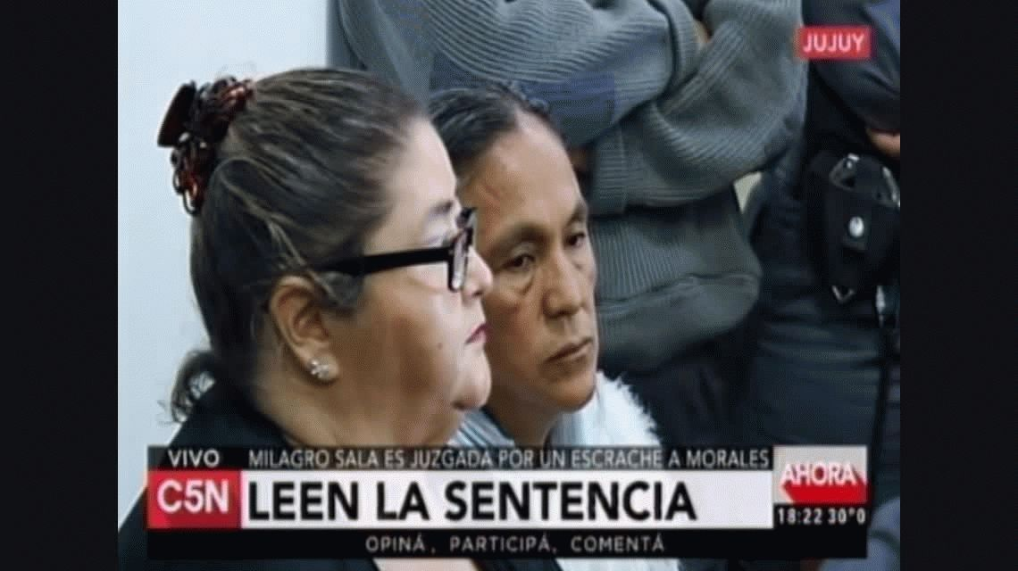 Sala fue condenada a 3 años de prisión en suspenso por el escrache a Morales