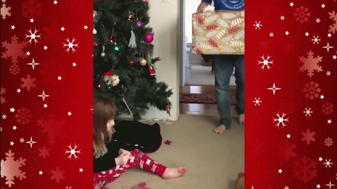 VIDEO: El decepcionante regalo de Navidad a una nena que tuvo un final feliz