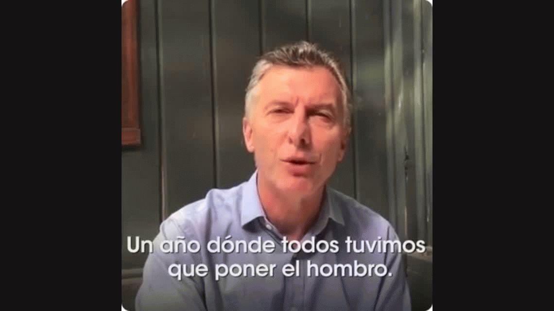 El mensaje de Macri para Año Nuevo: Confío en ustedes