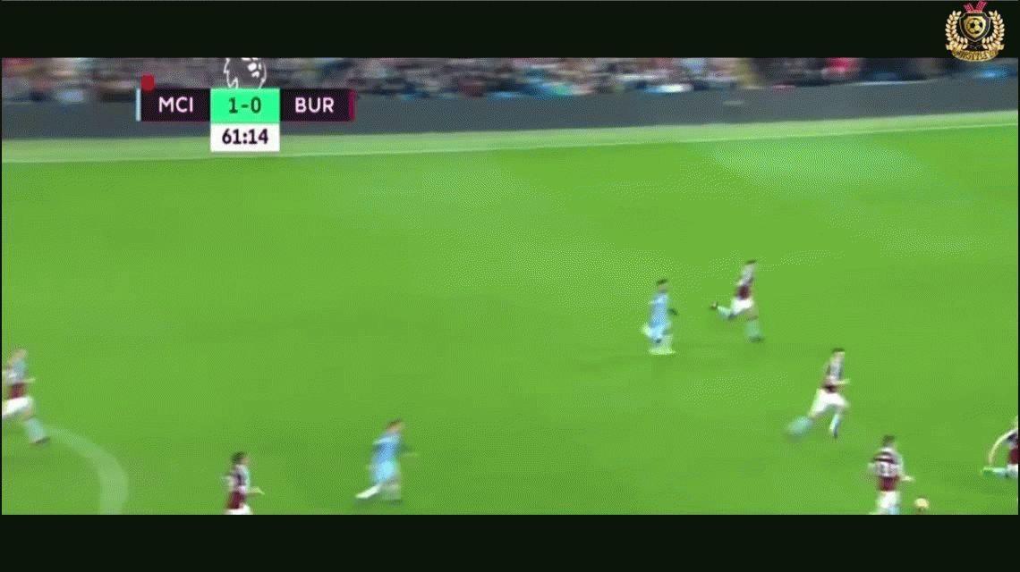 El Kun Agüero hizo un golazo para darle el triunfo al Manchester City