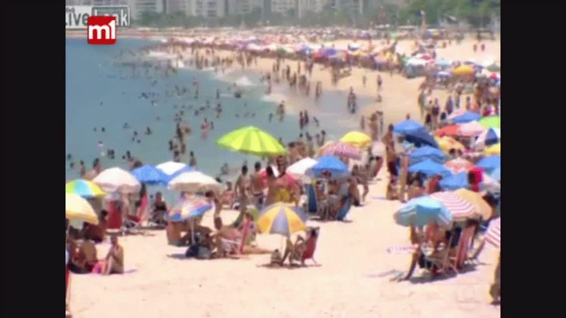 VIDEO: Turistas casi linchan a un ladrón en Brasil