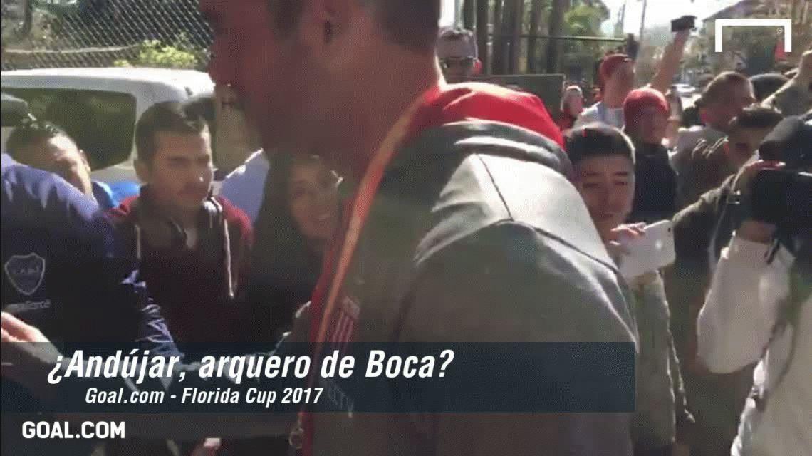 Arquero de Boca: la bienvenida a Andújar que ilusiona al pueblo xeneize