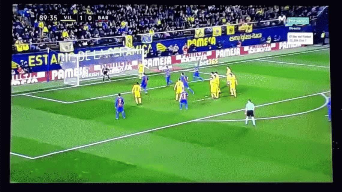 Para enmarcar: el espectacular tiro libre de Messi en el empate del Barcelona ante Villarreal