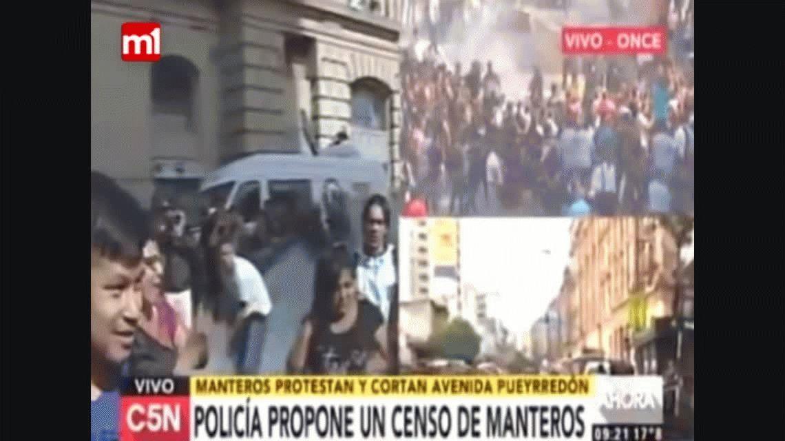 VIDEO: El insólito baile de un mantero para protestar en Once