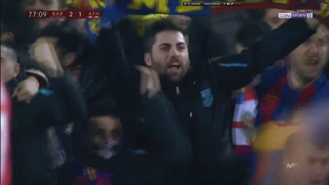 VIDEO: Así preanunciaron los hinchas del Barcelona el golazo de Messi