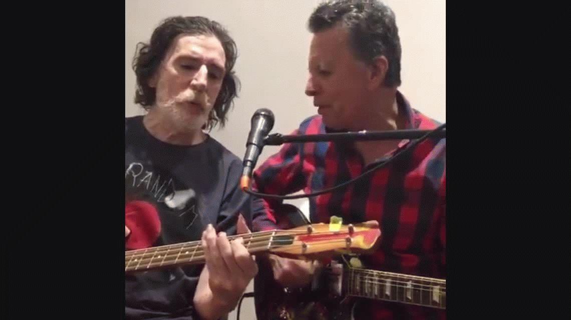 VIDEO Tras sus problemas de salud, Charly García cantó con Palito Ortega