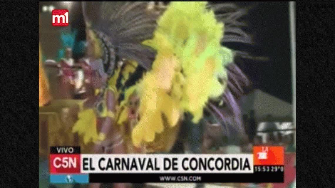 La alegría y el color del Caranaval de Concordia se vivió en C5N