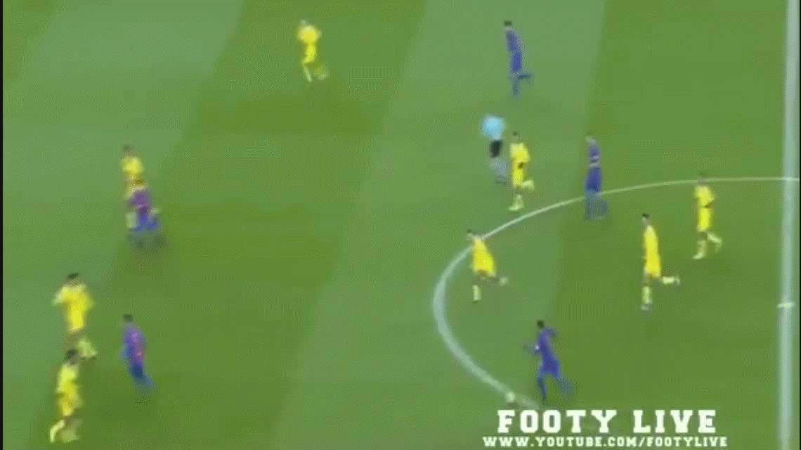 Messi aprovechó un regalo del arquero de Las Palmas y volvió a convertir
