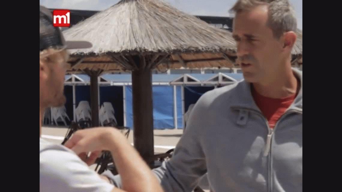 El capitán de Copa Davis se animó a surfear con el mejor argentino