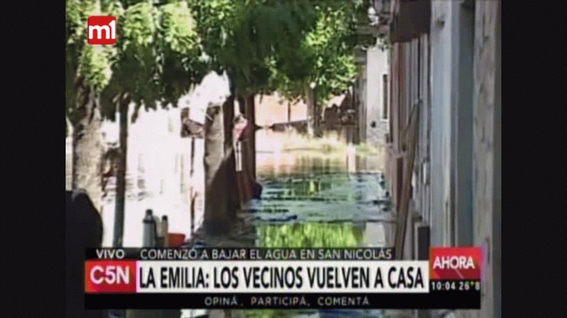 Tras las inundaciones, los vecinos de La Emilia vuelven a sus casas