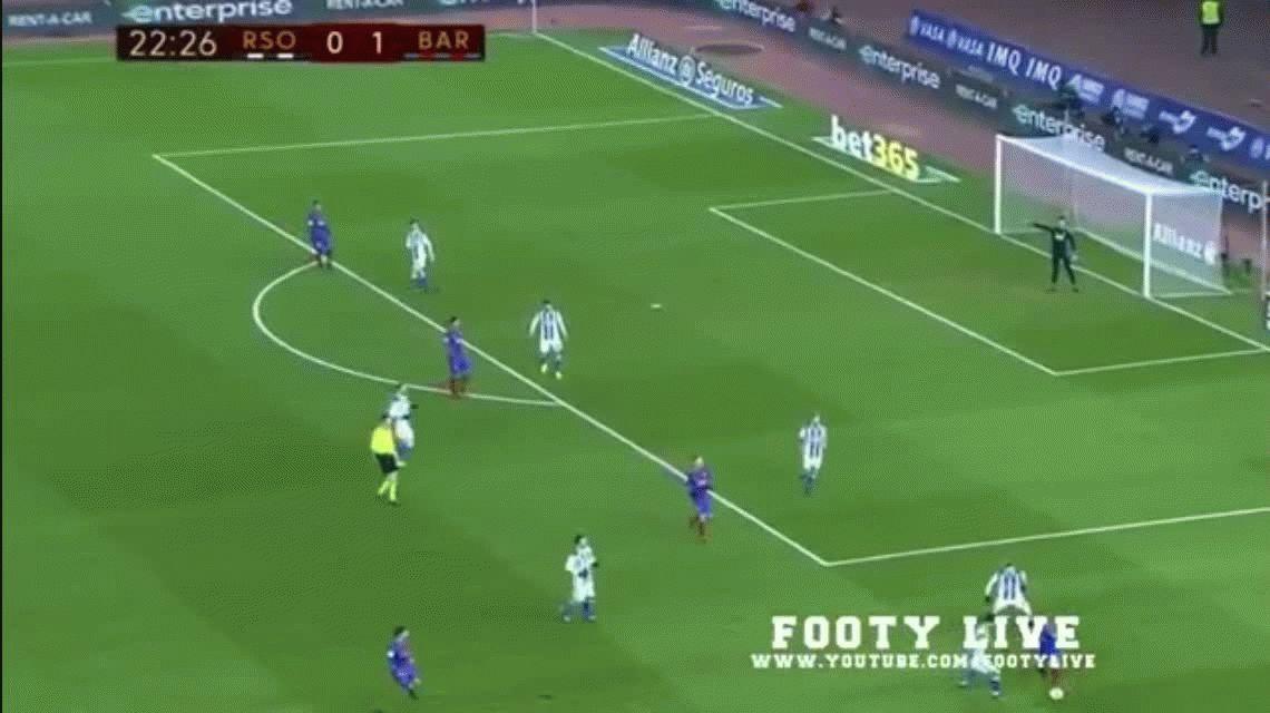 VIDEO: La furia de Messi tras recibir un pelotazo cuando estaba en el piso