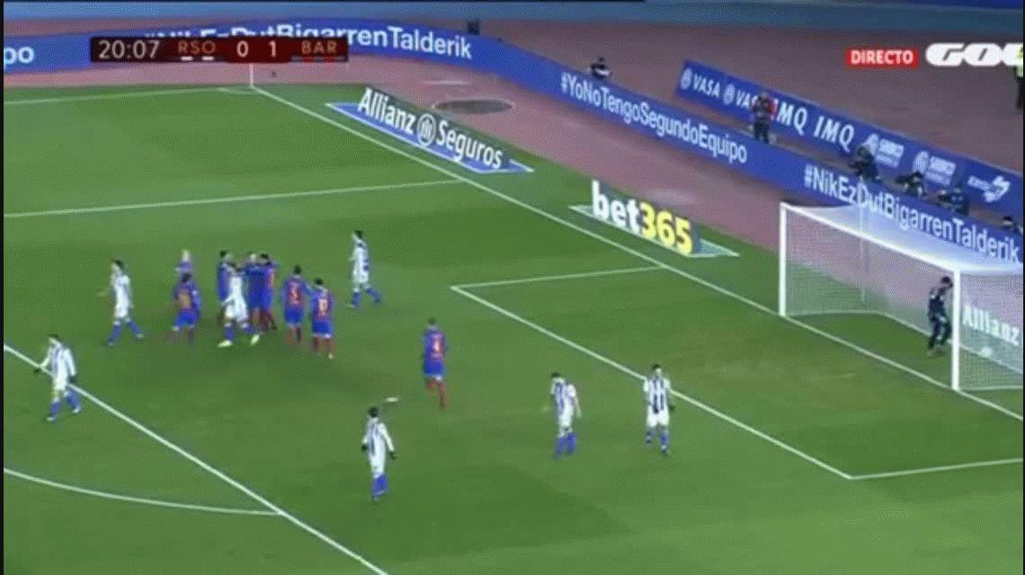 Barcelona derrotó a la Real Sociedad con un gol de Neymar de penal
