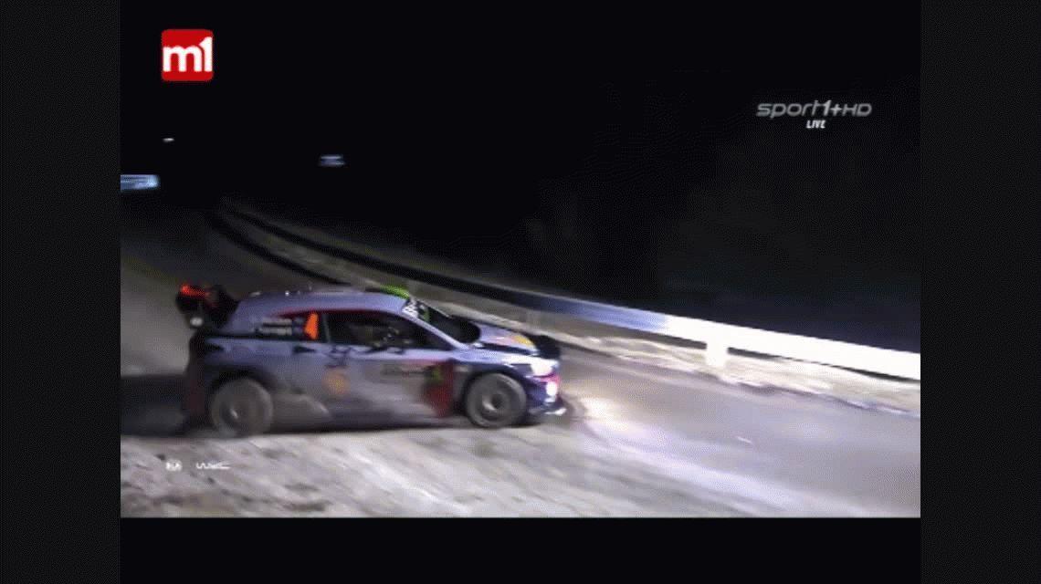 Tragedia en el rally de Montecarlo: un auto volcó y mató a un espectador