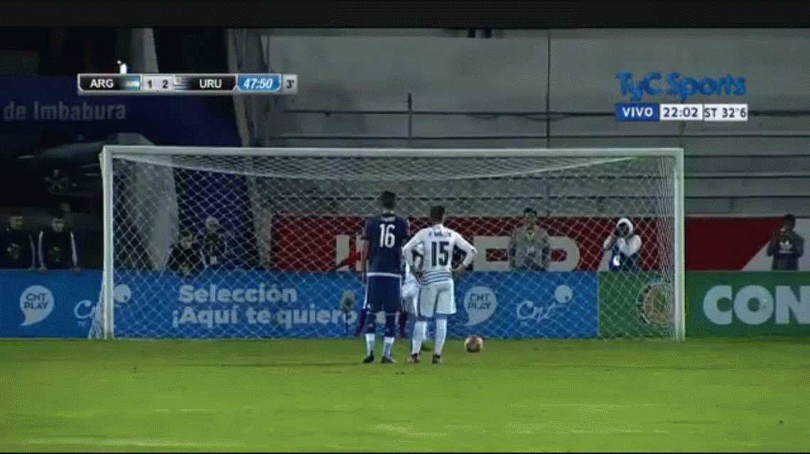 A pesar de ir perdiendo tres veces, Argentina logró un buen empate ante Uruguay