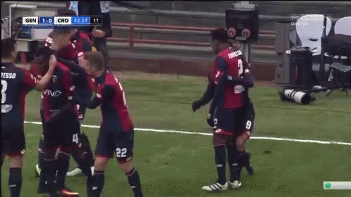 Gio Simeone y Ocampos convirtieron para el Genoa