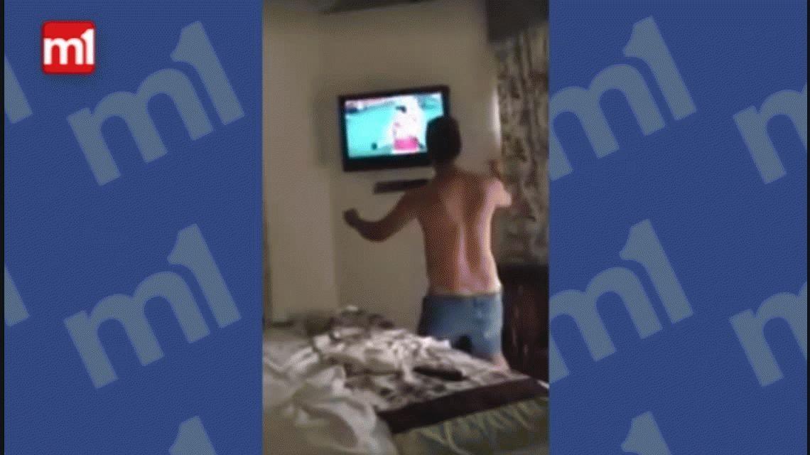 Un argentino explotó de alegría con el golazo de Alexis