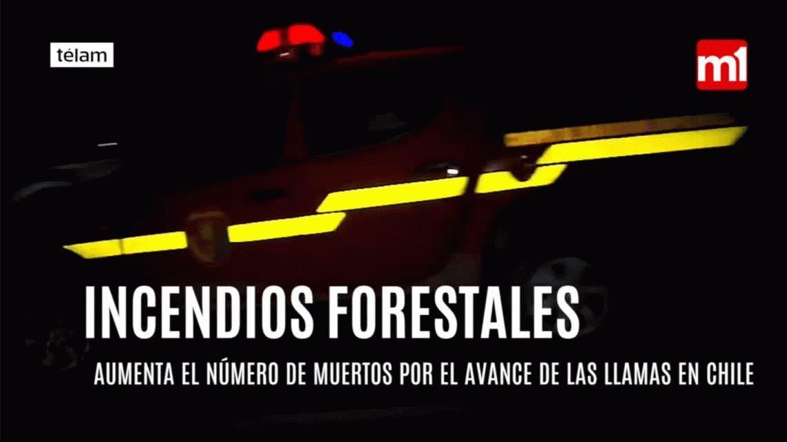 Al menos 10 muertos en Chile por los incendios forestales