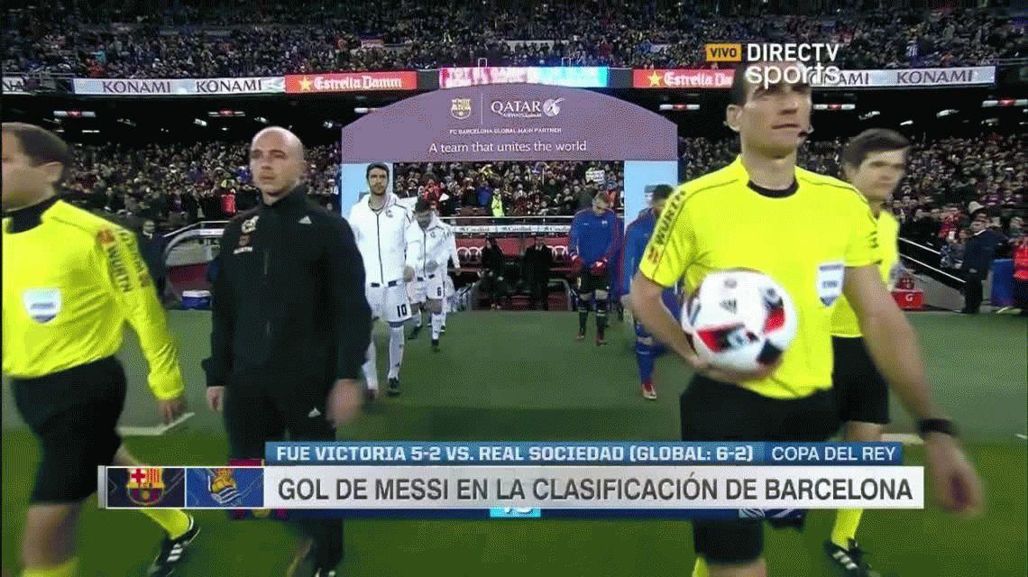 Con un gol de Lionel Messi, Barcelona goleó y está en semis