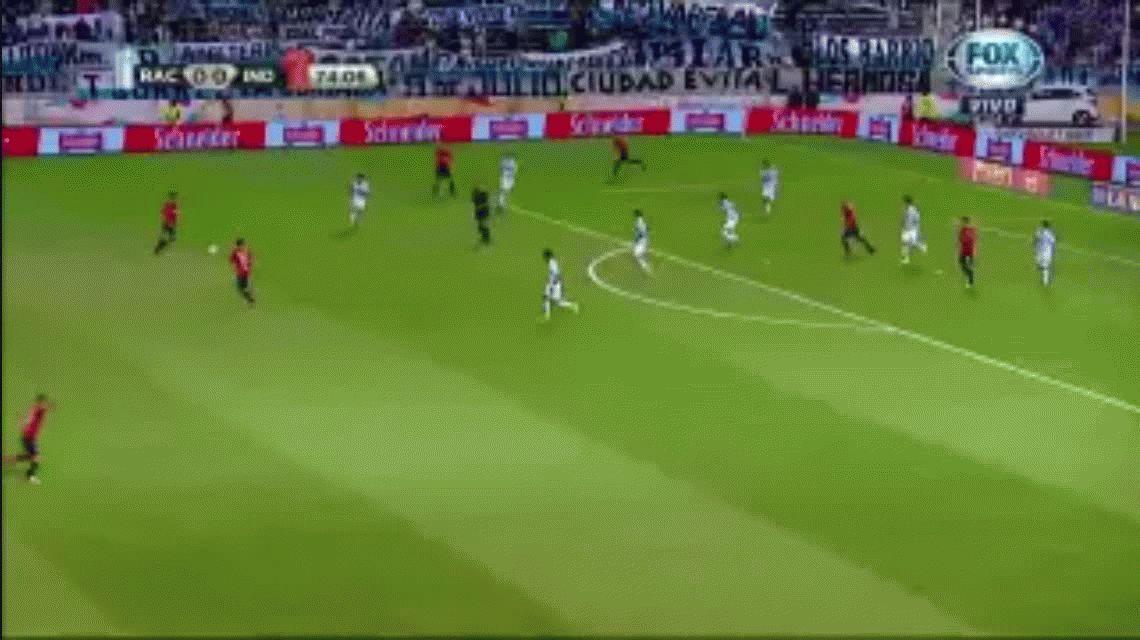 El gol que se perdió Vera contra Racing