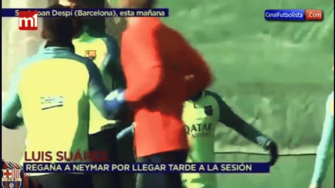 El reproche de Suárez a Neymar por llegar tarde al entrenamiento del Barcelona