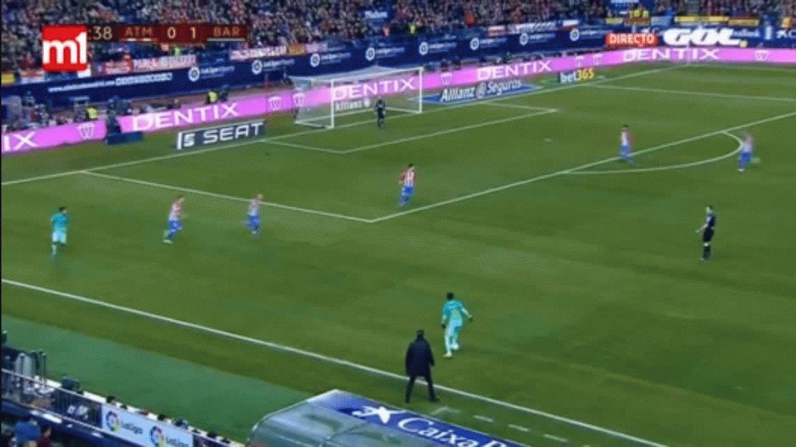 Con un golazo de Messi, el Barcelona le ganó al Atlético Madrid de Simeone