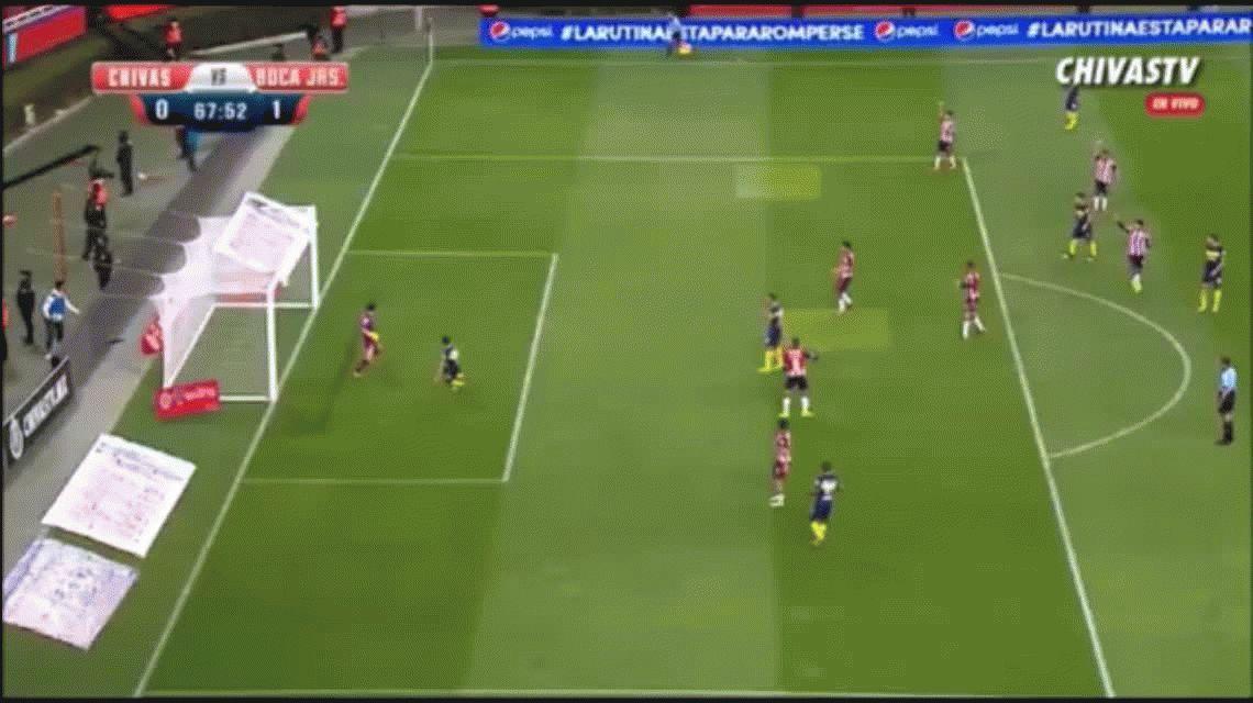 VIDEO: Exquisito pase de Gago y gol de Walter Bou que pide titularidad en Boca