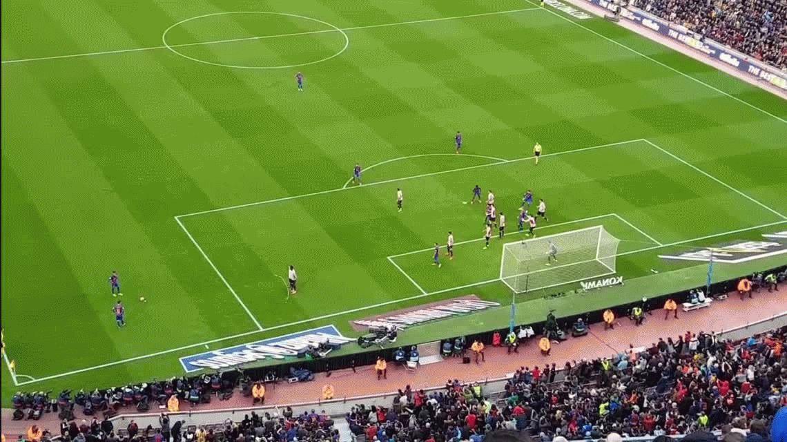 VIDEO: El gol de Messi al Athletic de Bilbao filmado desde la tribuna