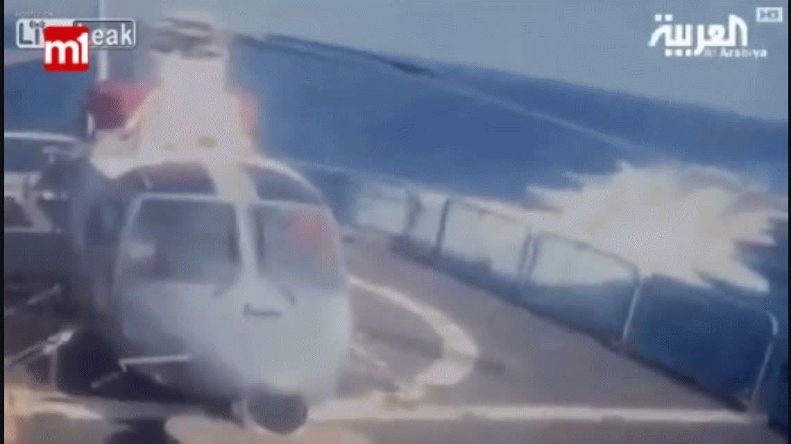 Impactante: así explotó un submarino suicida contra un buque